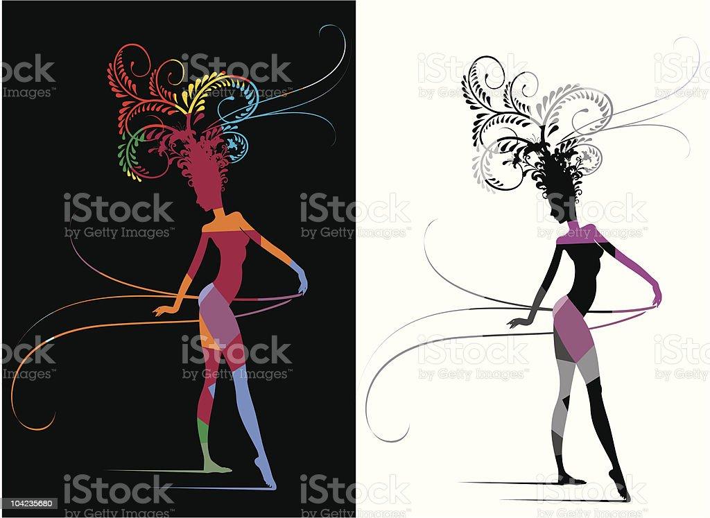 Carnival Woman Fantasy royalty-free stock vector art