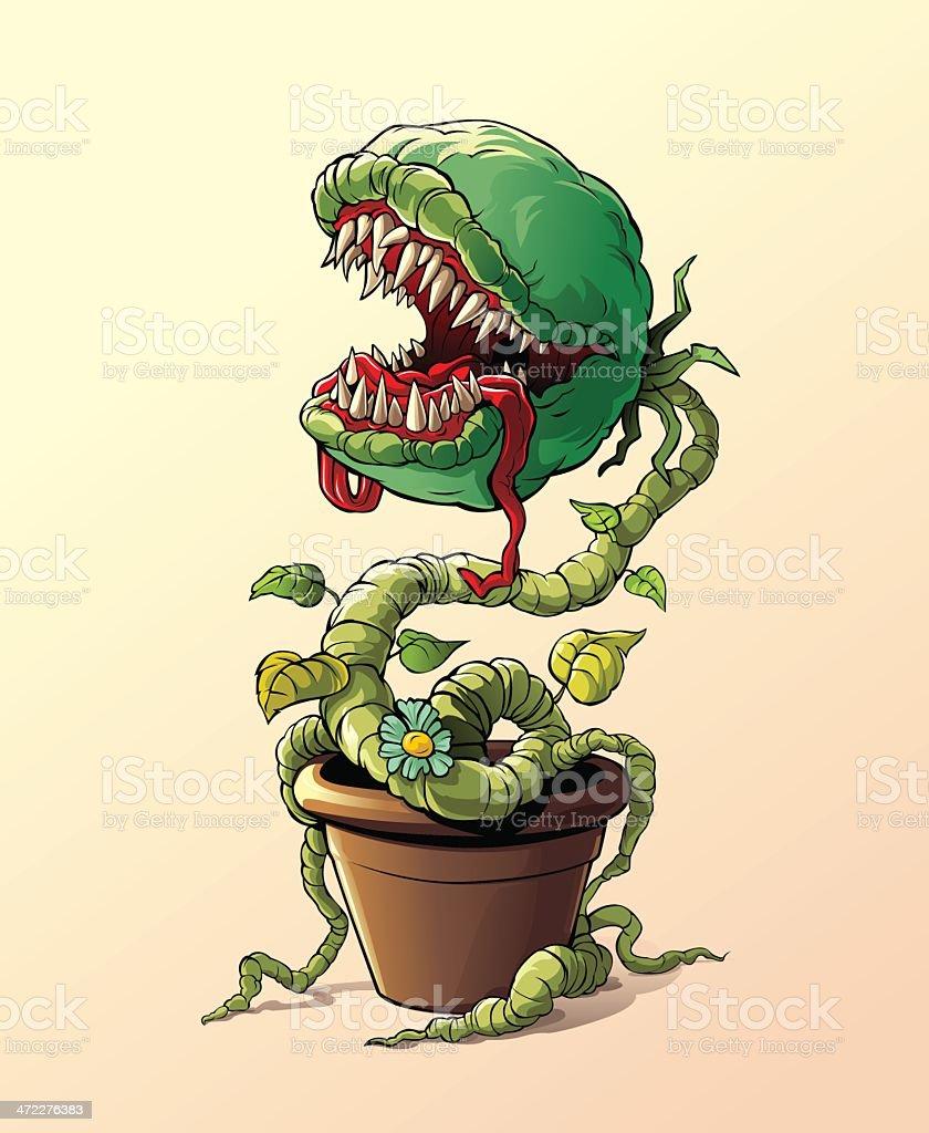 Carnivorous Plant royalty-free stock vector art