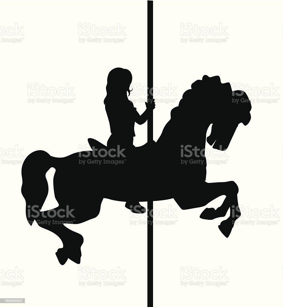 Caroussel Ride Vector Silhouette royalty-free stock vector art