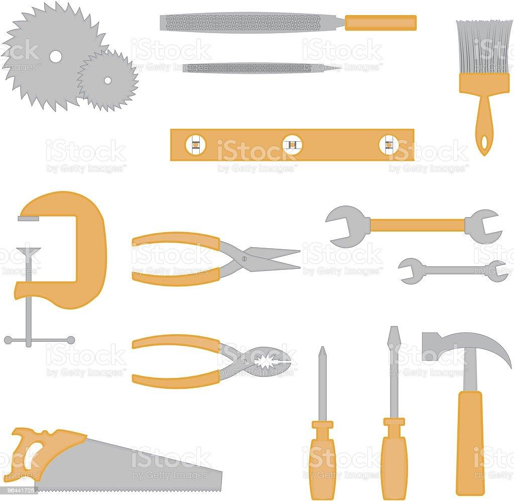 carpenter tool icons royalty-free stock vector art
