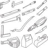 Carpenter Tools Doodles