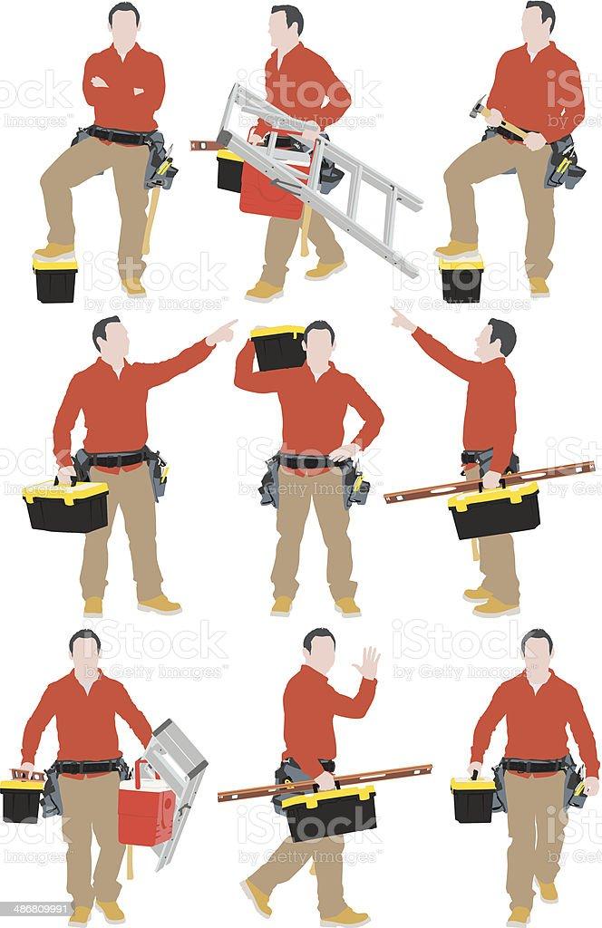 Carpenter royalty-free stock vector art