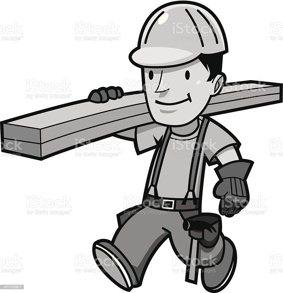 Carpenter2 vector art illustration