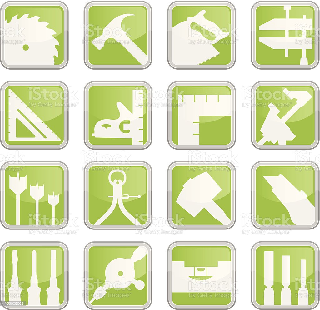 Carpentry Tool Icons royalty-free stock vector art