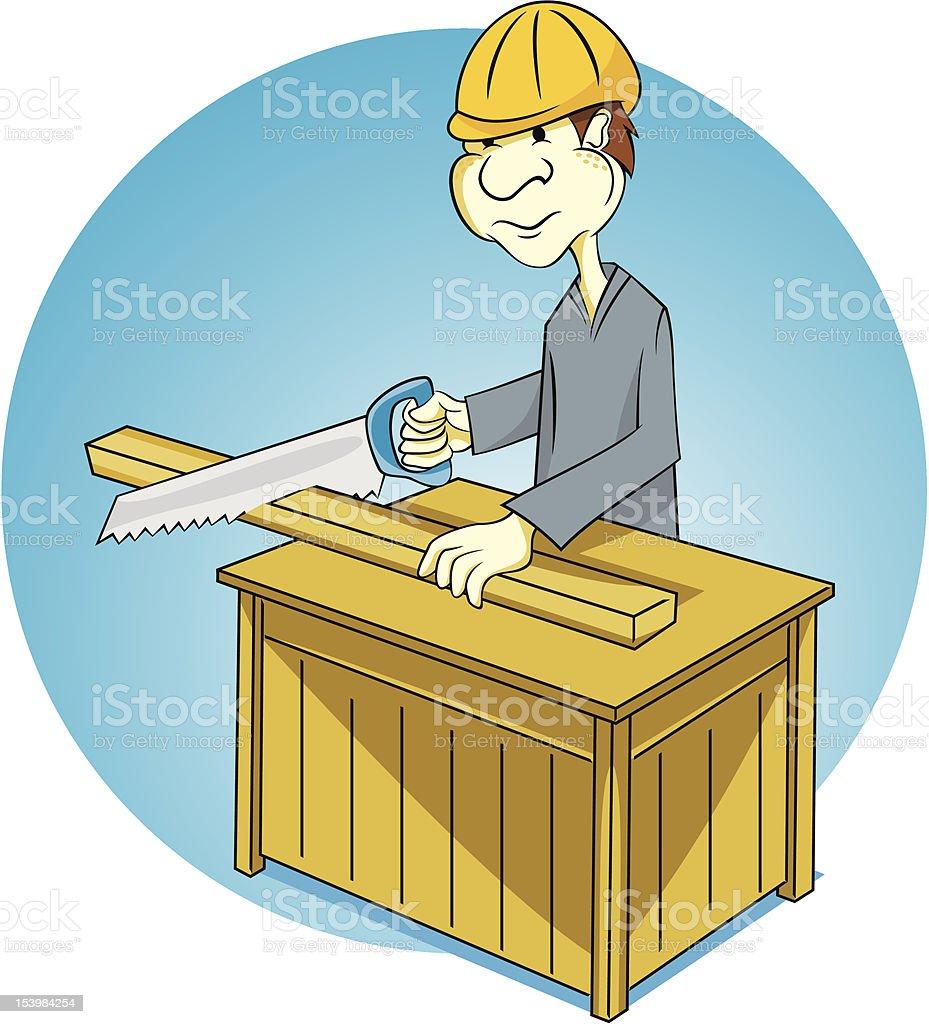 Carpentry royalty-free stock vector art