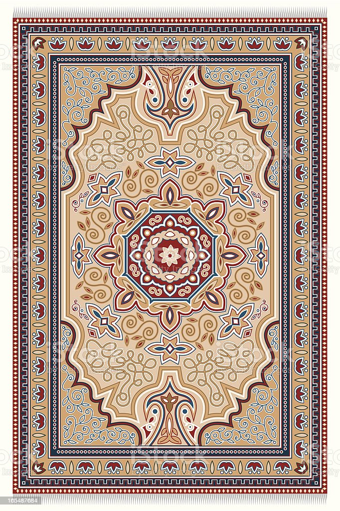 Carpet vector art illustration