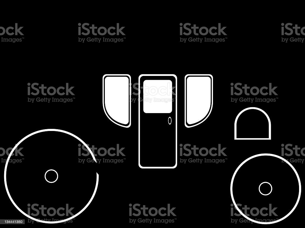 Carriage in Silhouette vector art illustration