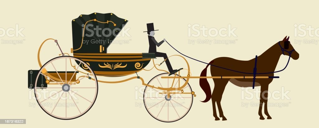 carriage vector art illustration