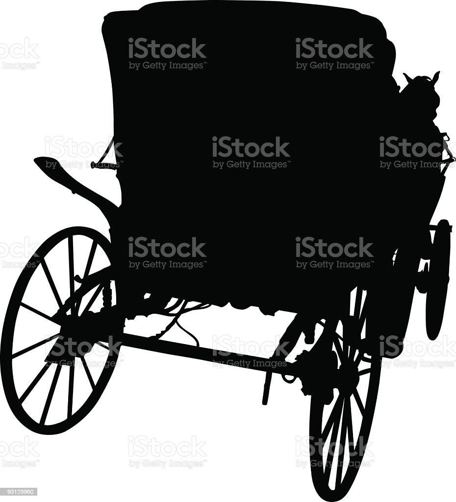 Carriage vector art illustration