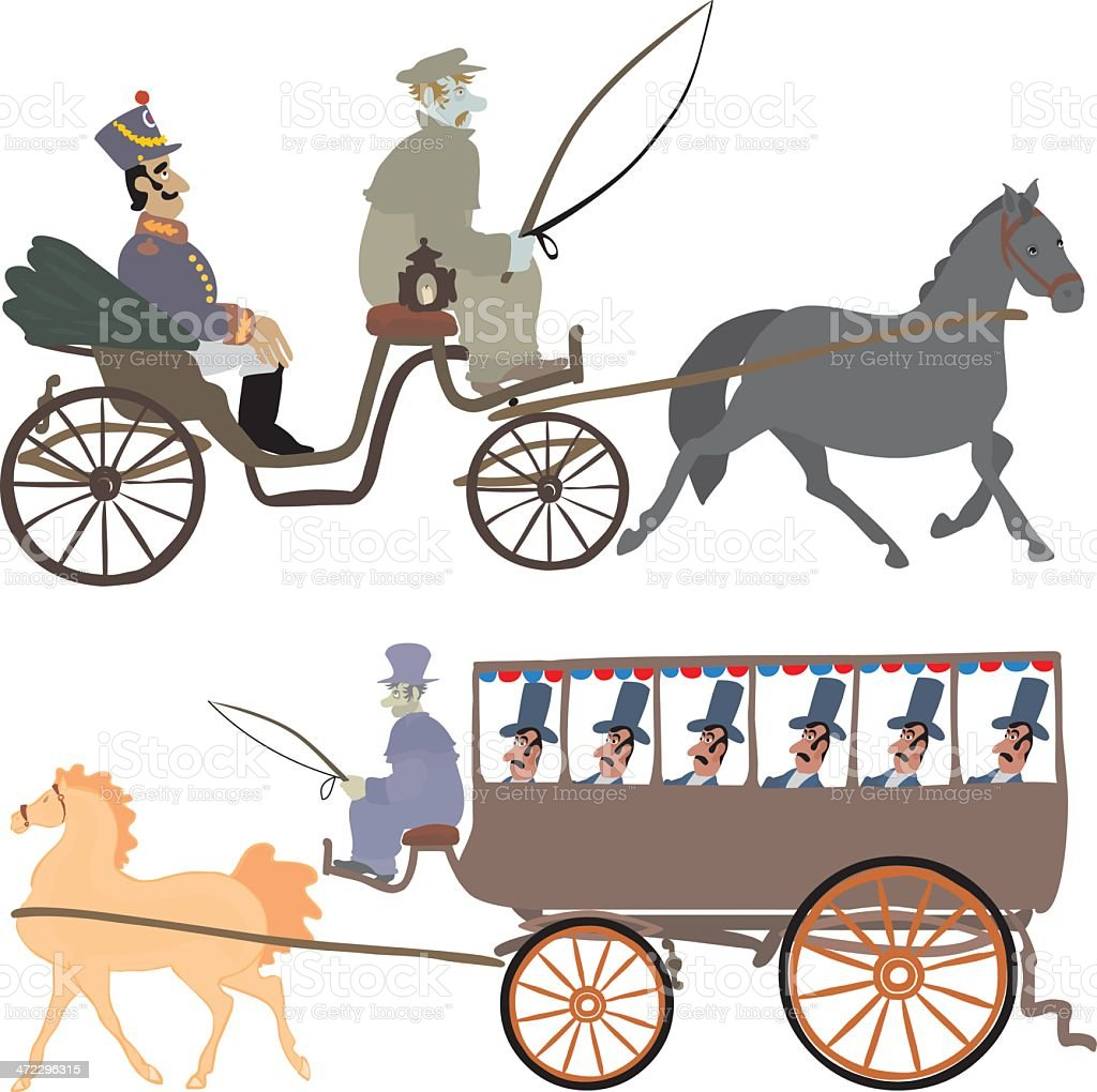 Carriages royalty-free stock vector art