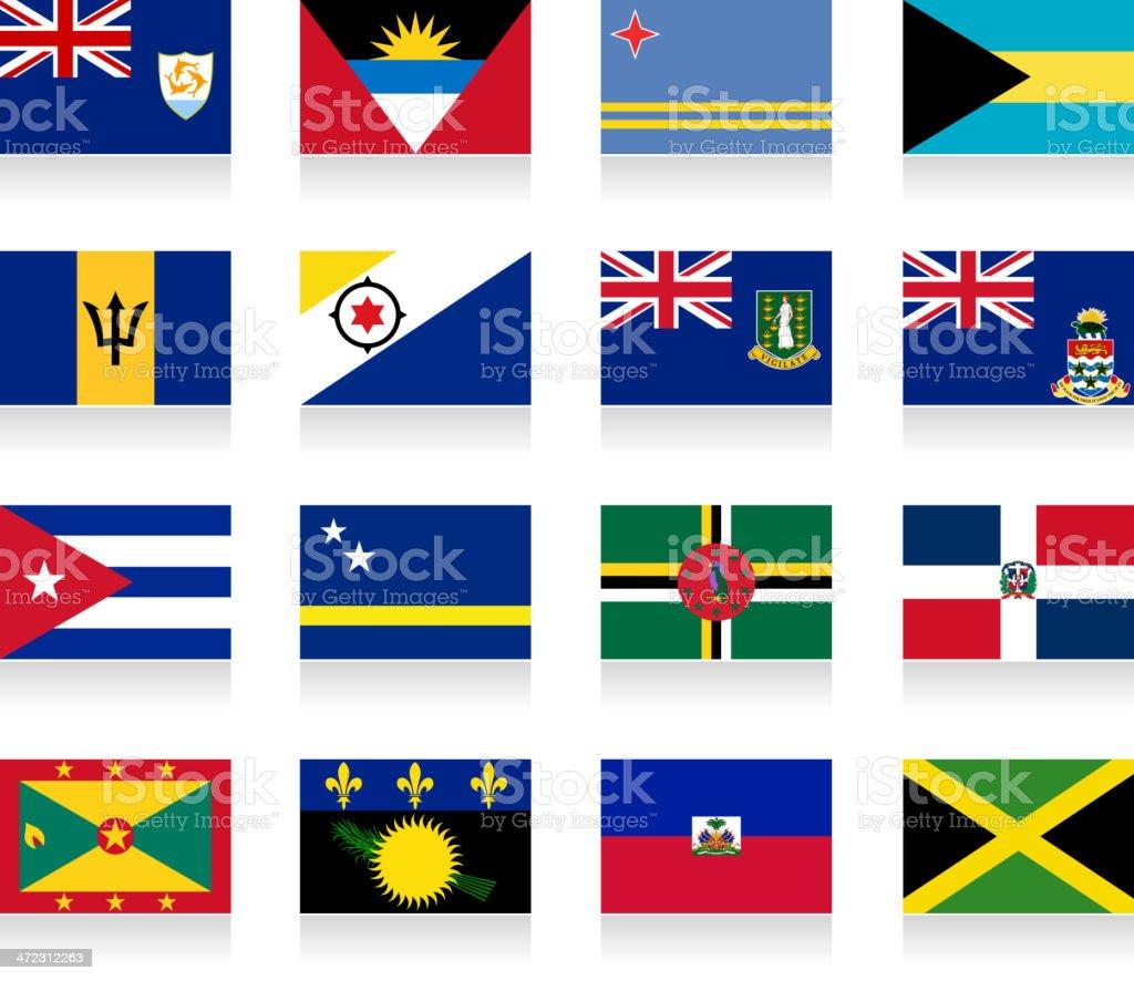 Carribean Flags- Part 1 royalty-free stock vector art