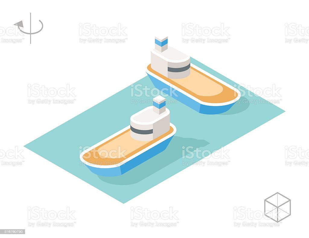 Carrier with Shadows. vector art illustration
