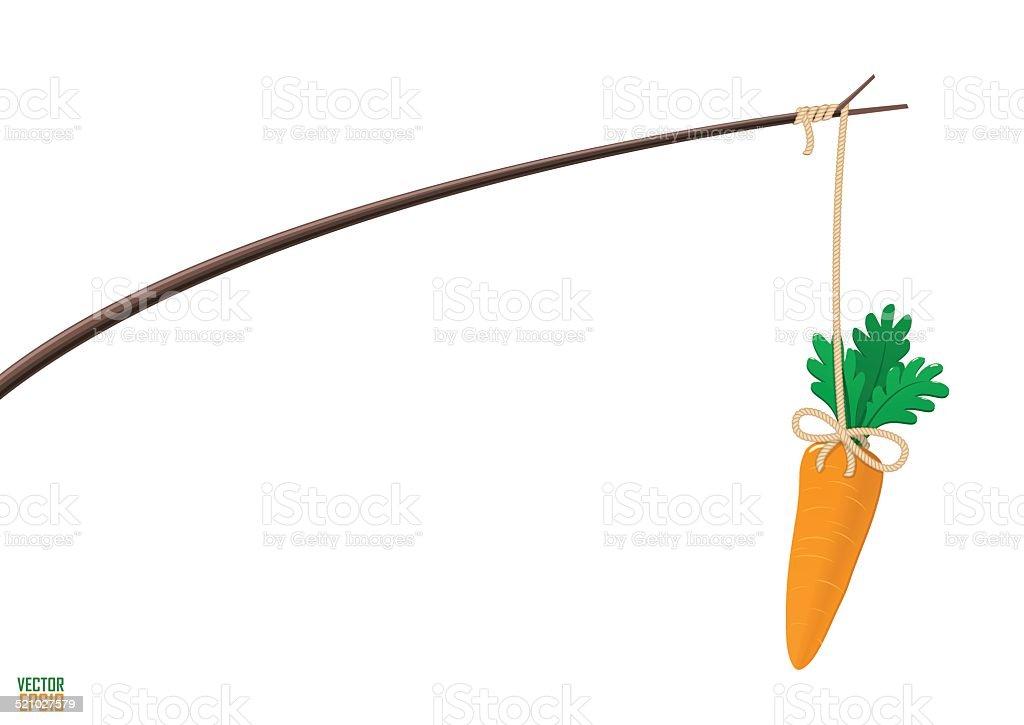 Carrot and stick motivation illustration. vector art illustration