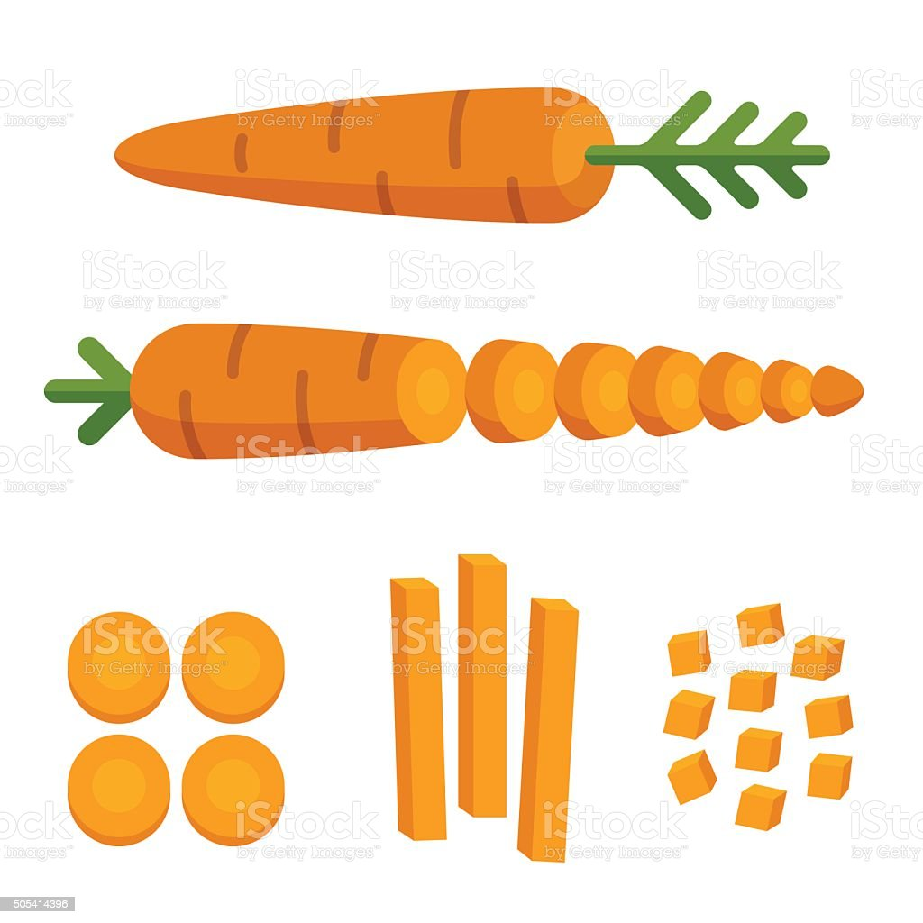 Carrot cuts illustration vector art illustration