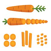 Carrot cuts illustration