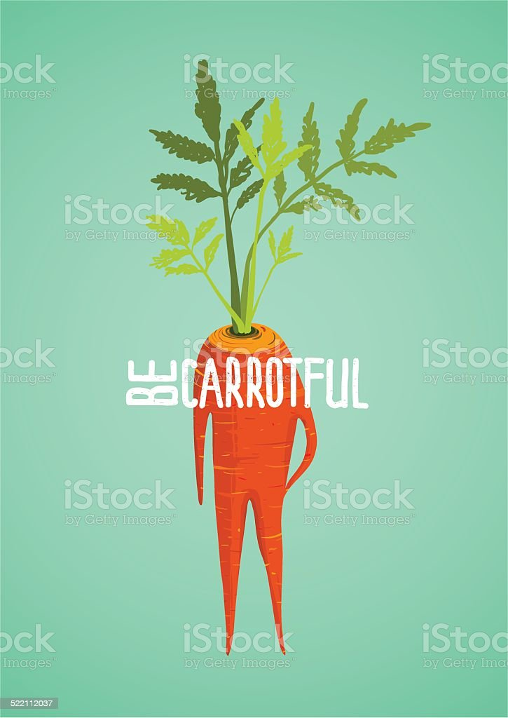 Carrot Diet Colorful Inspirational Vegetable Concept vector art illustration