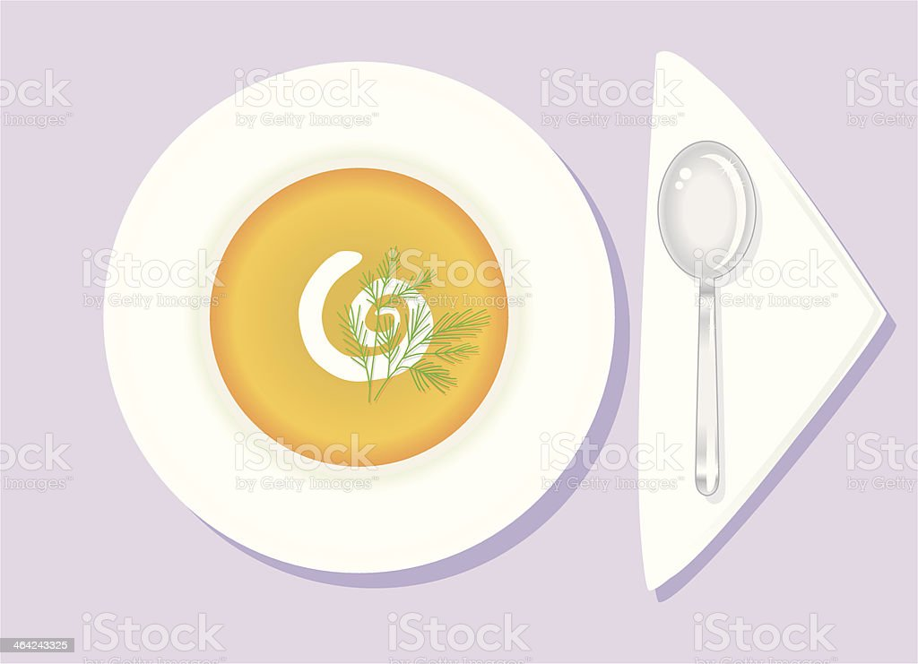 Carrot Soup vector art illustration