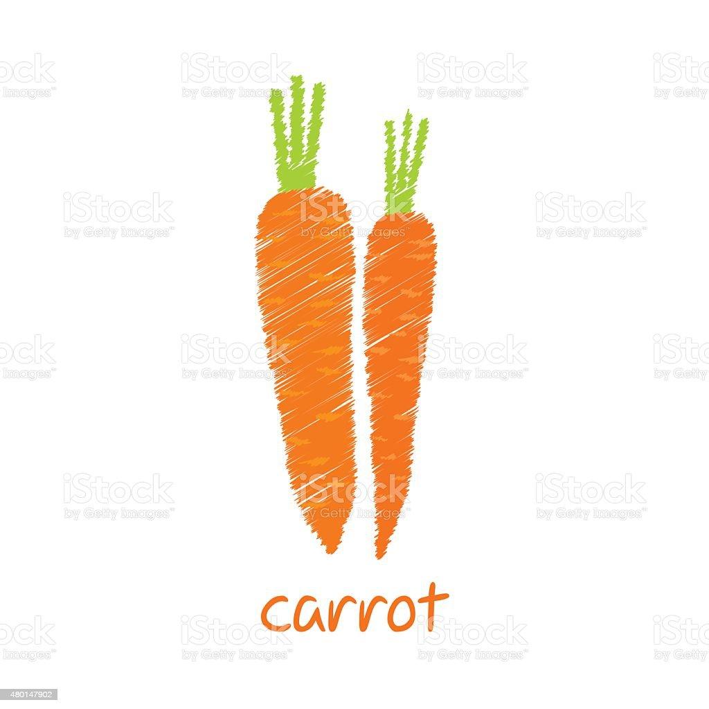 carrot vegetable design vector art illustration