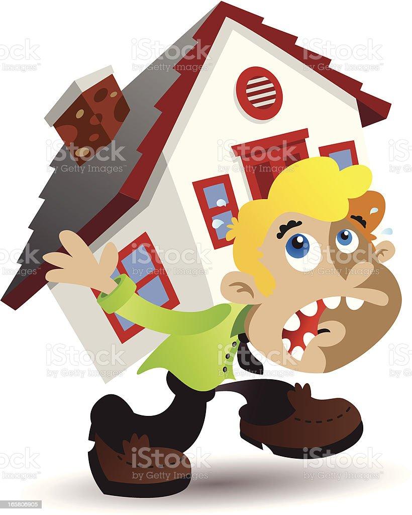 Carry House vector art illustration