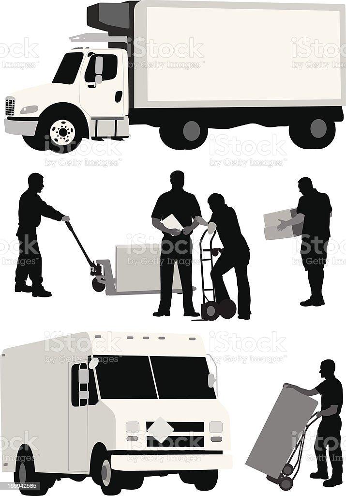 Carry Vector Silhouette vector art illustration