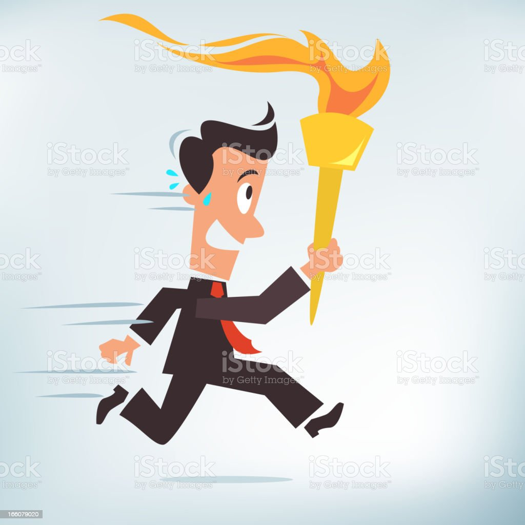 Carrying a Torch royalty-free stock vector art