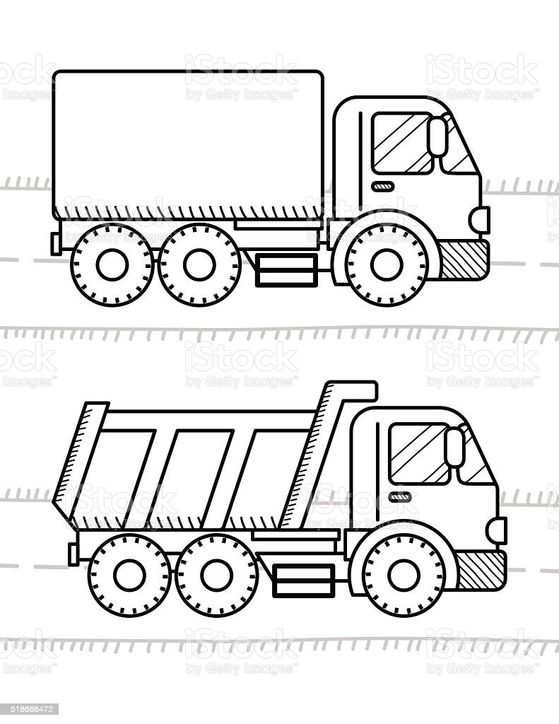 cars and vehicles coloring book for kids dump truck truck stock
