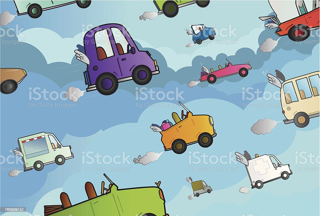 Cars competition. royalty-free stock vector art