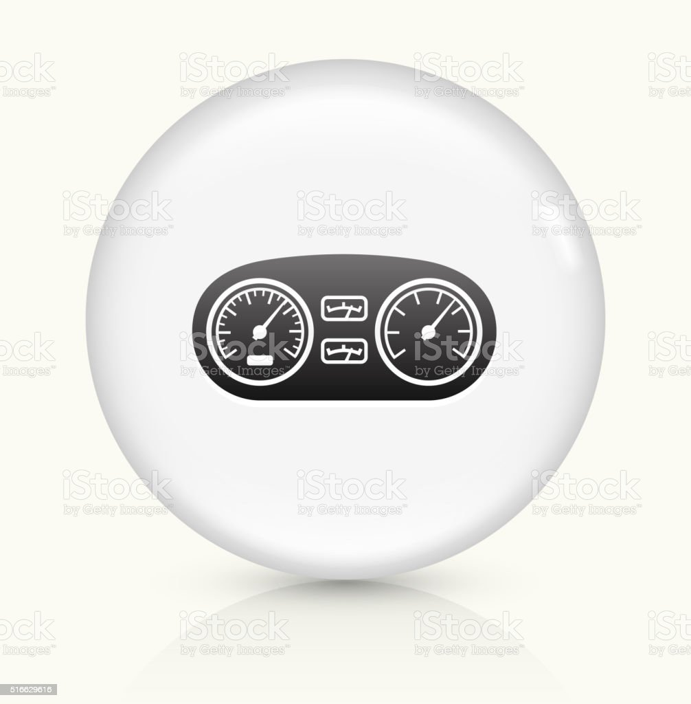 Car's Dashboard icon on white round vector button vector art illustration