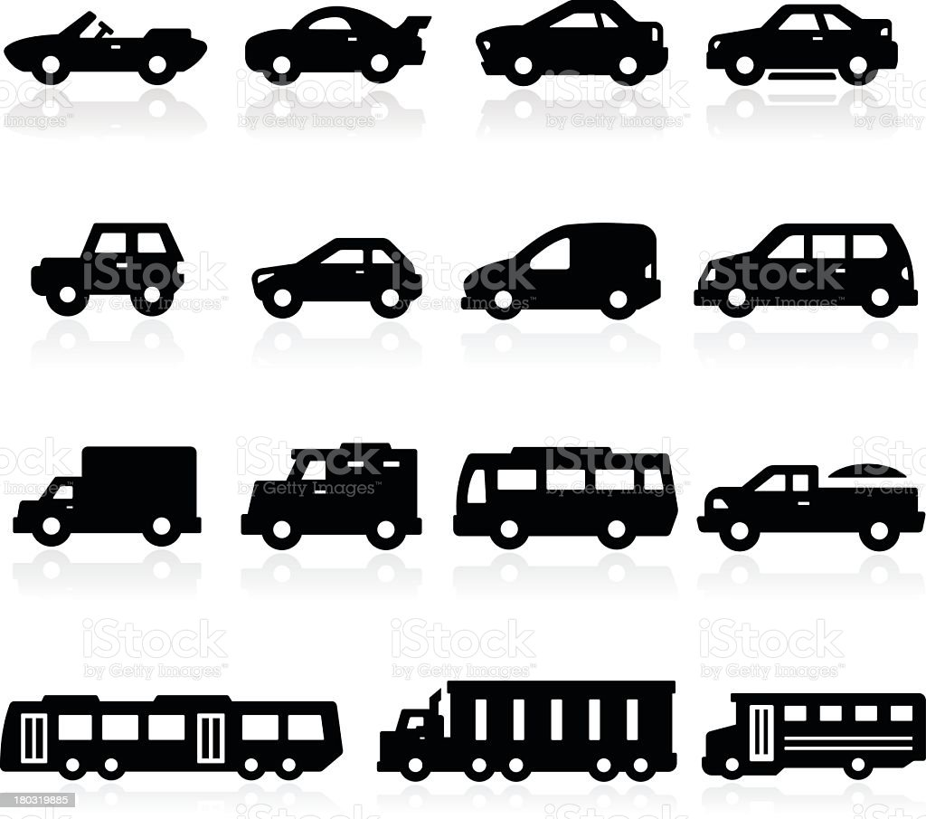Cars Icons two royalty-free stock vector art