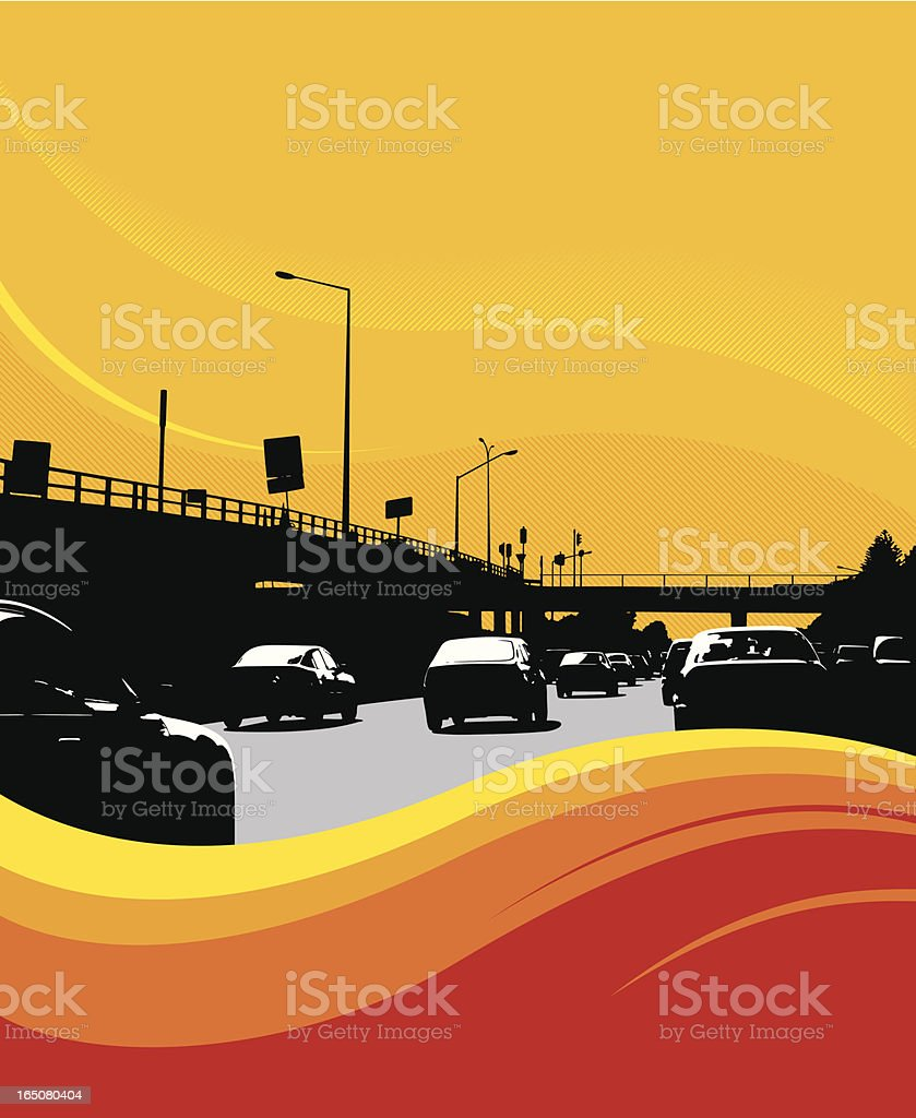 cars on motorway royalty-free stock vector art