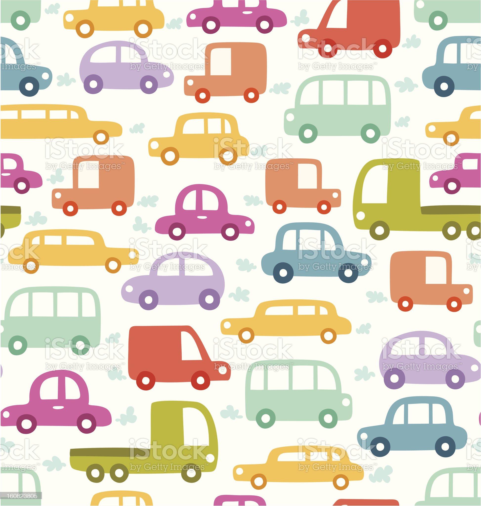 Cars pattern royalty-free stock vector art