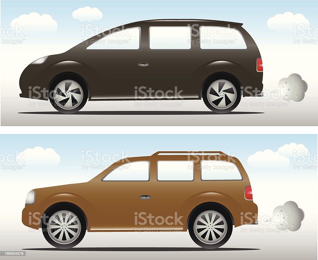 Cars: People Carrier and SUV royalty-free stock vector art