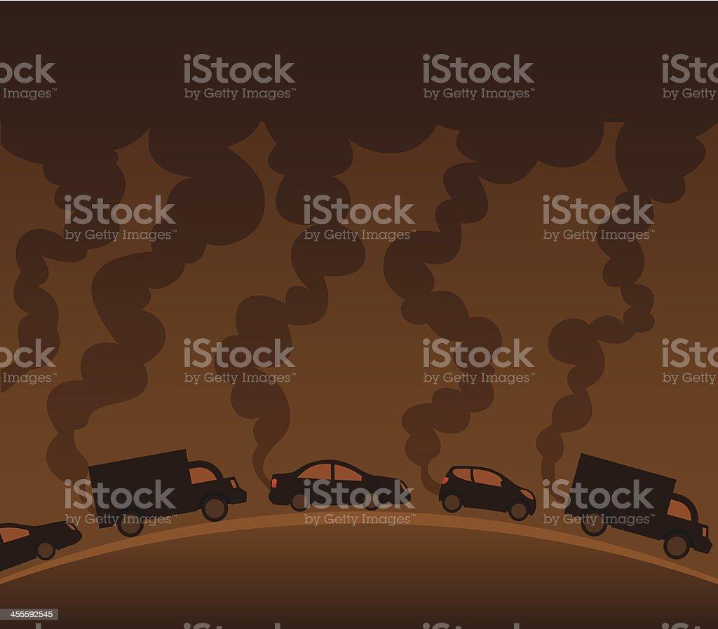 Cars Polluting royalty-free stock vector art
