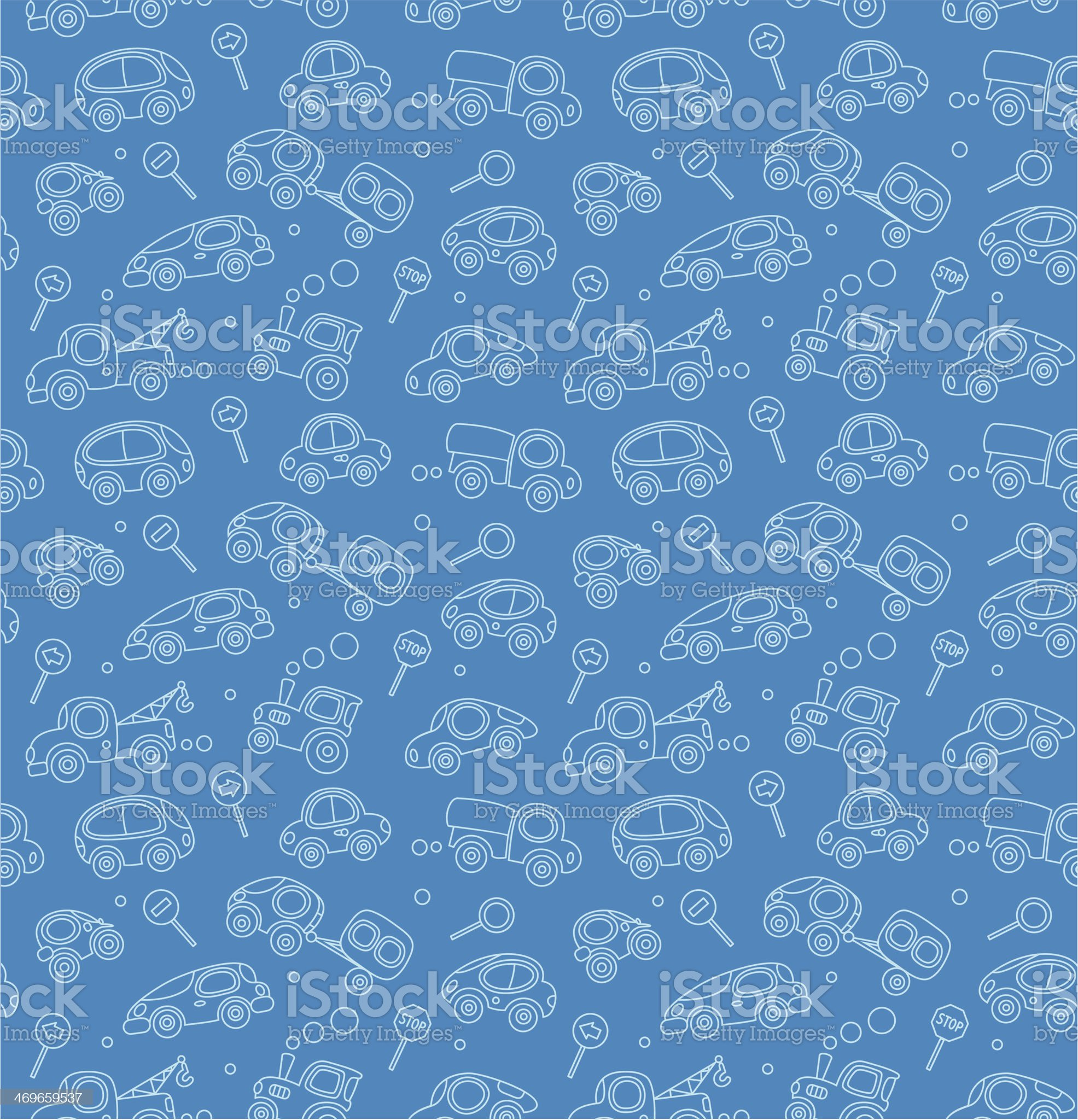 Cars. Seamless pattern. royalty-free stock vector art