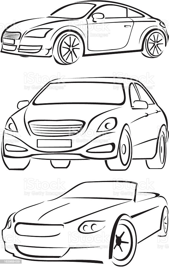 cars silhouettes royalty-free stock vector art