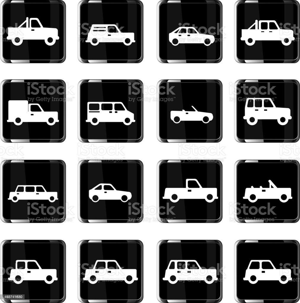 Cars simply icons vector art illustration