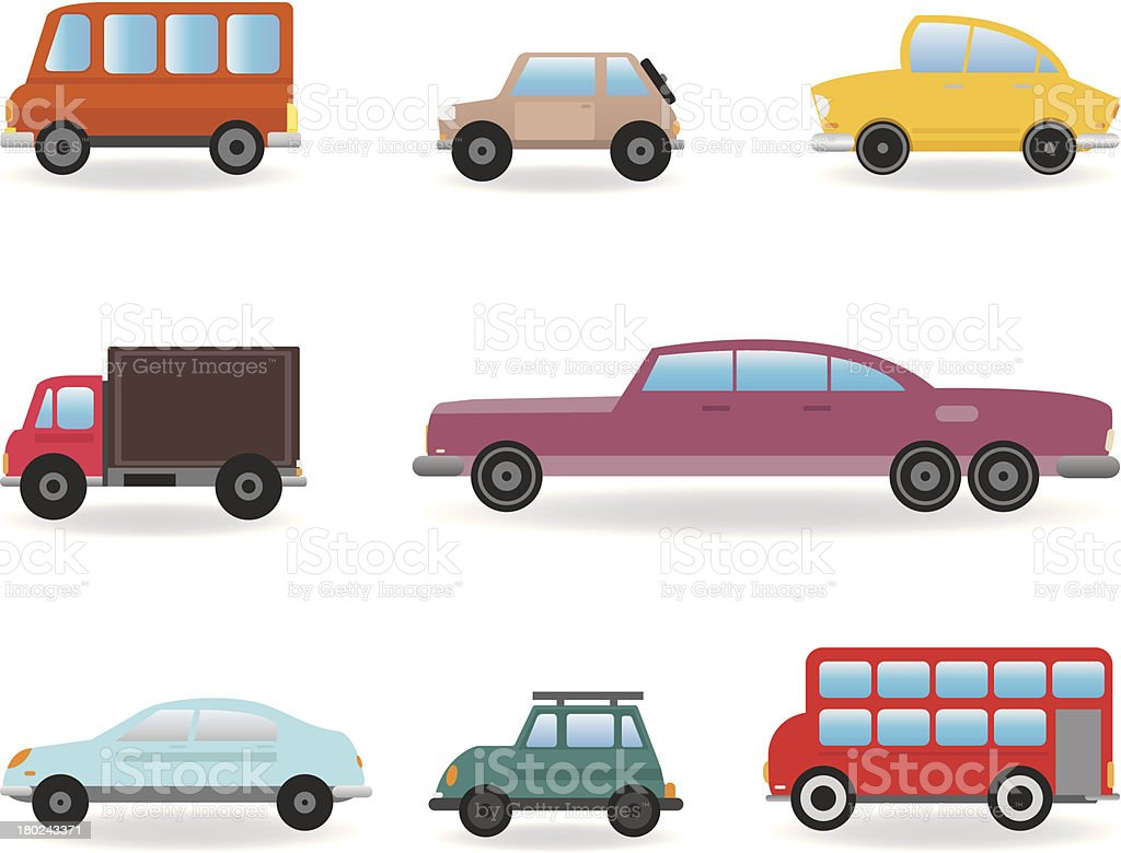 Cars vector art illustration