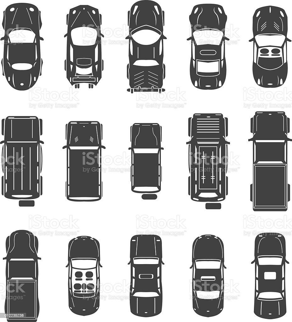 Vector voitures set vue du haut stock vecteur libres de droits 612235238 istock - Voiture vue de haut ...