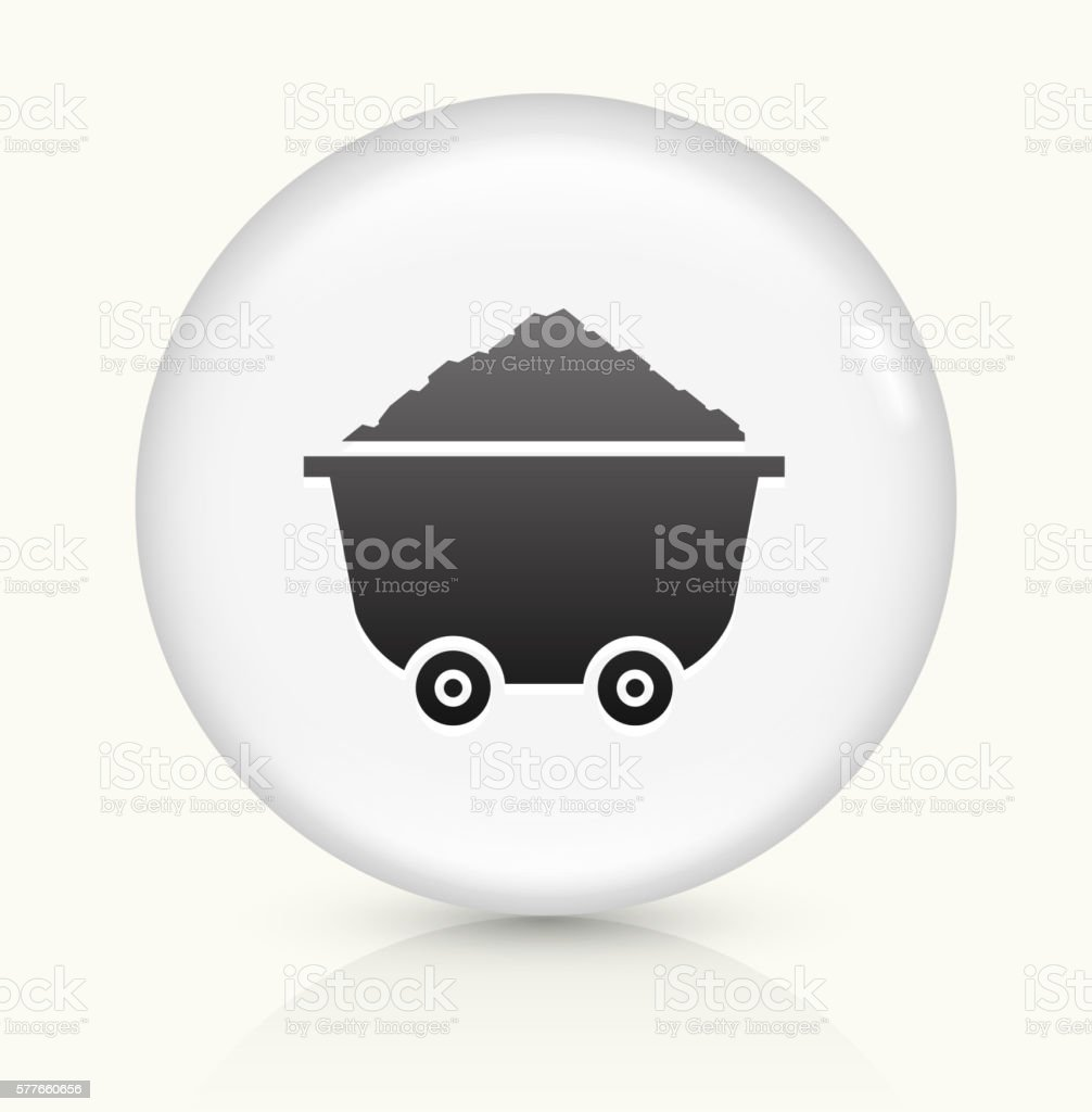 Cart and Sand Pile icon on white round vector button vector art illustration