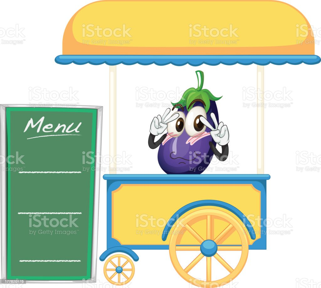 Cart stall and a fruit royalty-free stock vector art