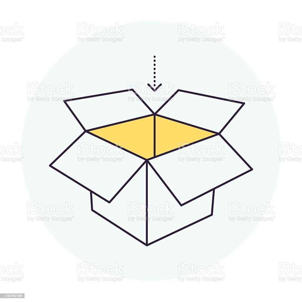 Carton Container Symbol vector art illustration