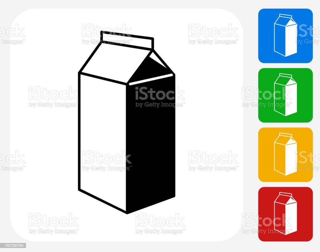 Carton Icon Flat Graphic Design vector art illustration