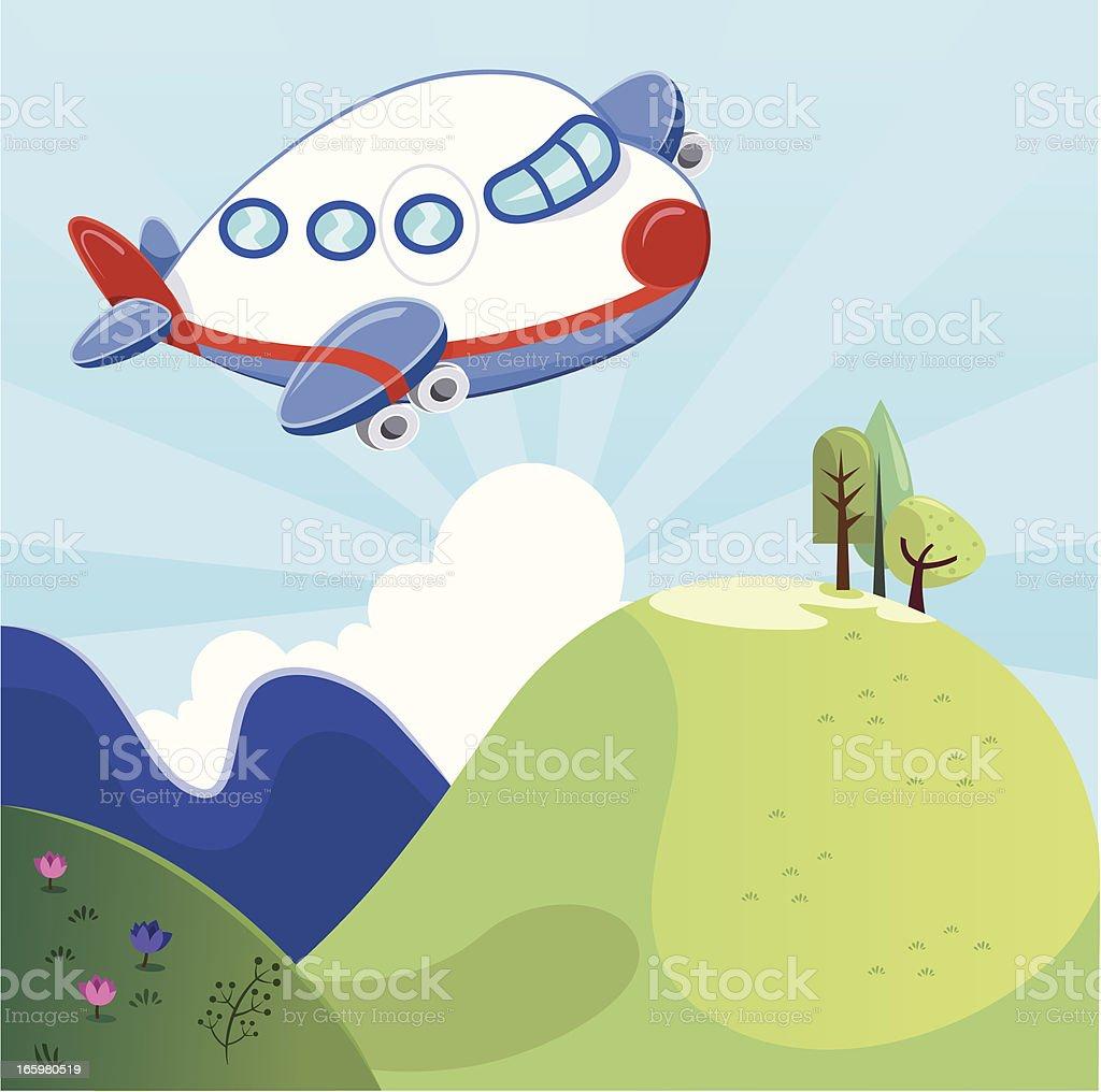 Cartoon Airplane royalty-free stock vector art