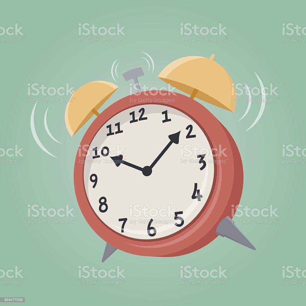 cartoon alarm clock vector art illustration