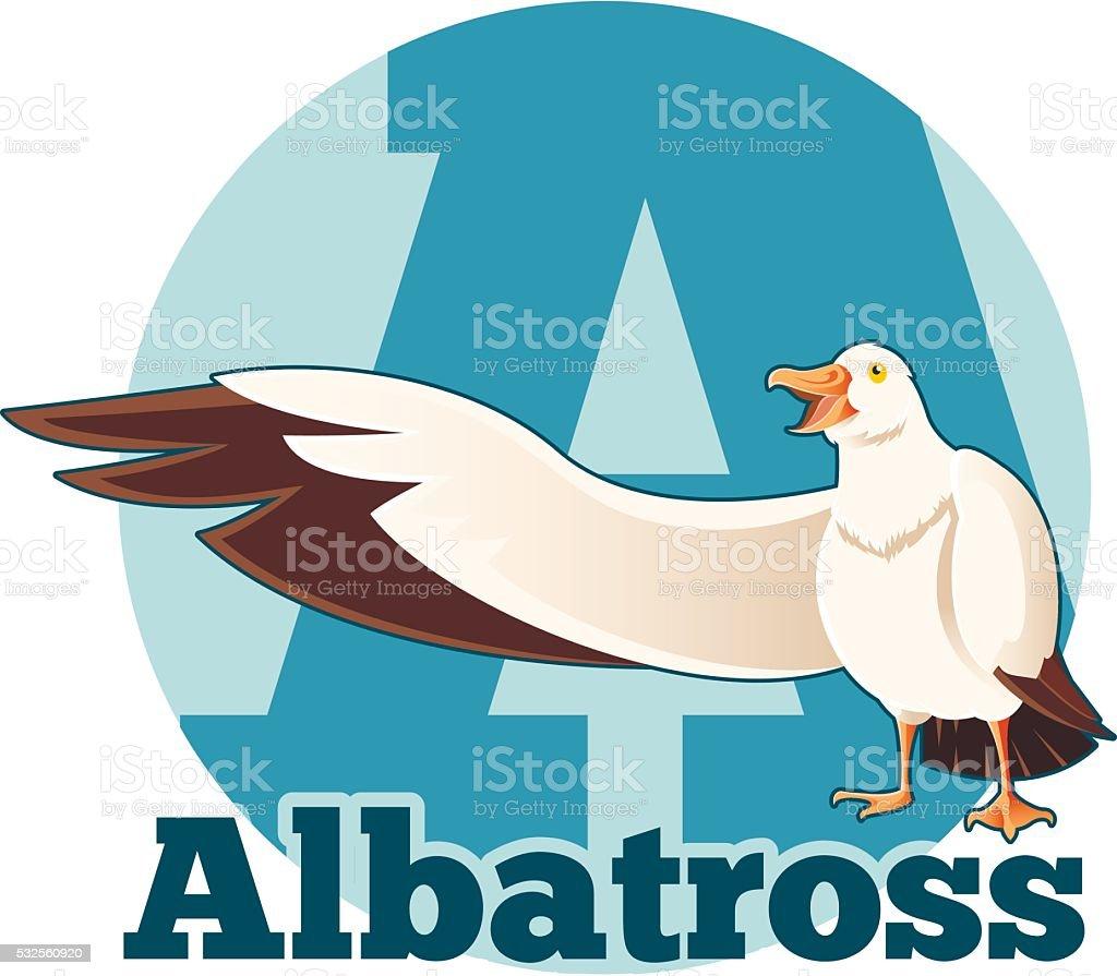 ABC Cartoon Albatross vector art illustration