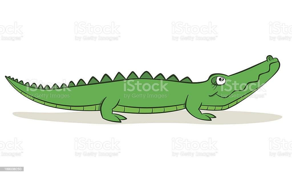 Cartoon Alligator royalty-free stock vector art