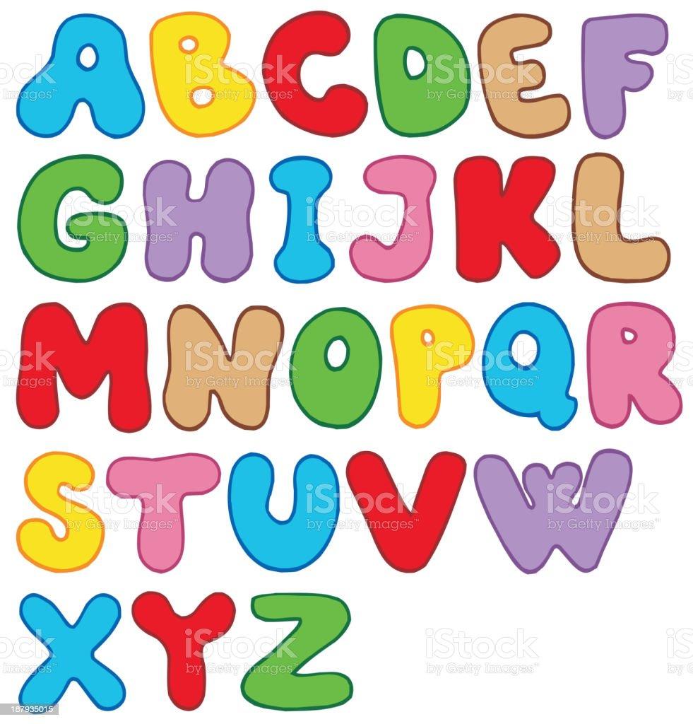 Cartoon alphabet royalty-free stock vector art