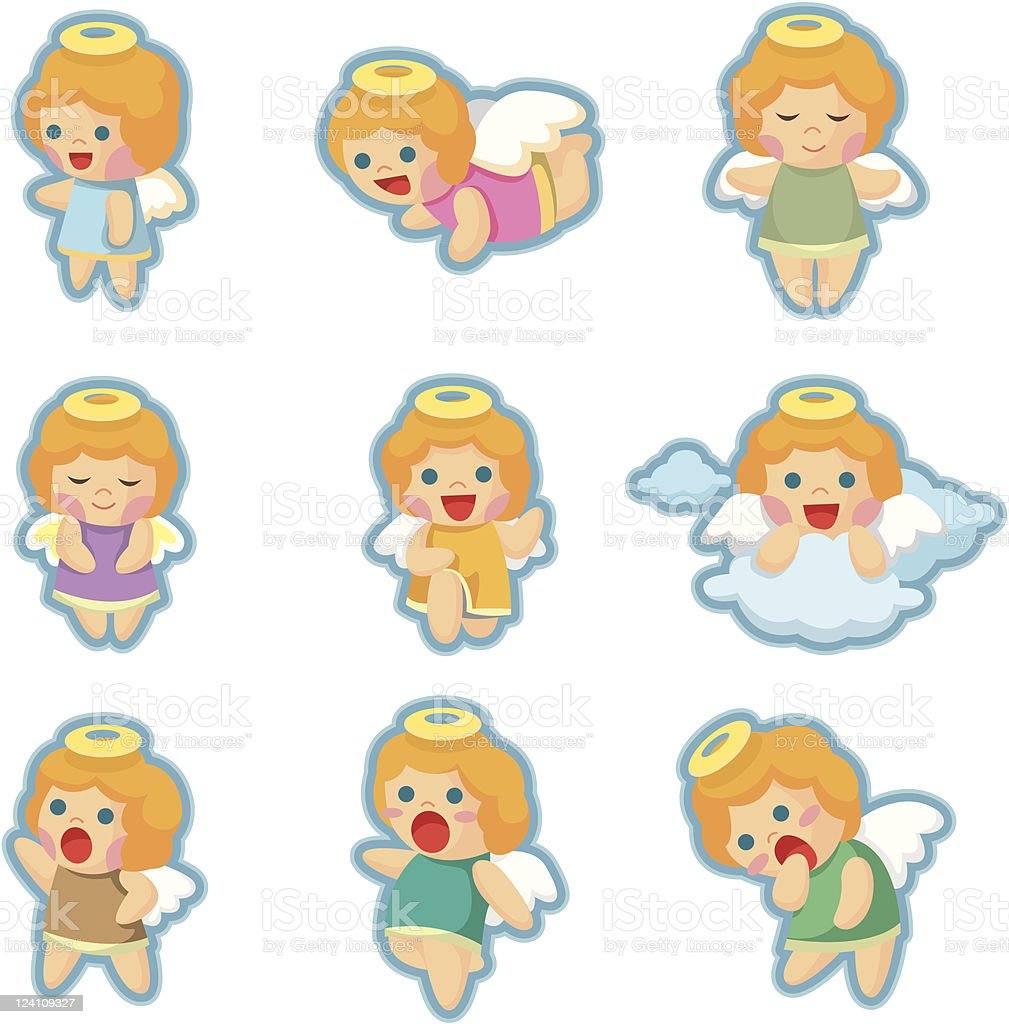 cartoon angel icons royalty-free stock vector art
