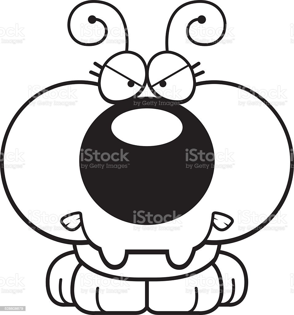 Cartoon Angry Ant vector art illustration