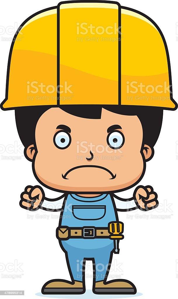 Bauarbeiter bei der arbeit comic  Comic Wütende Bauarbeiter Jungen Vektor Illustration 478995314 ...